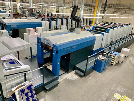 K-1 Packaging Group newly Installed KBA Rapida 105