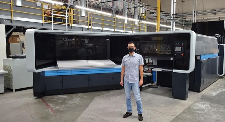 BREAKING NEWS: Landa S10 press arrives at K-1 Packaging Group